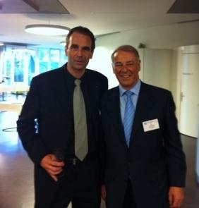Notre Président Michel accompagné de Adolf OGI